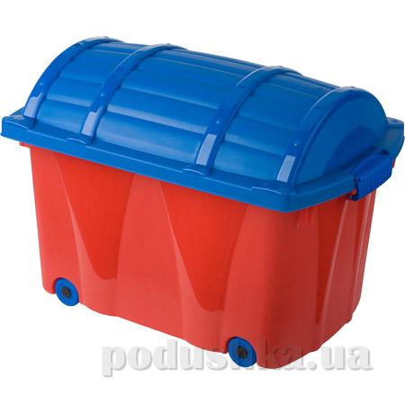 Ящик на колёсах для игрушек Prima Baby красно-синий