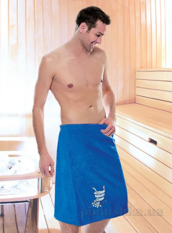 Юбка для сауны мужская Ярослав морская волна