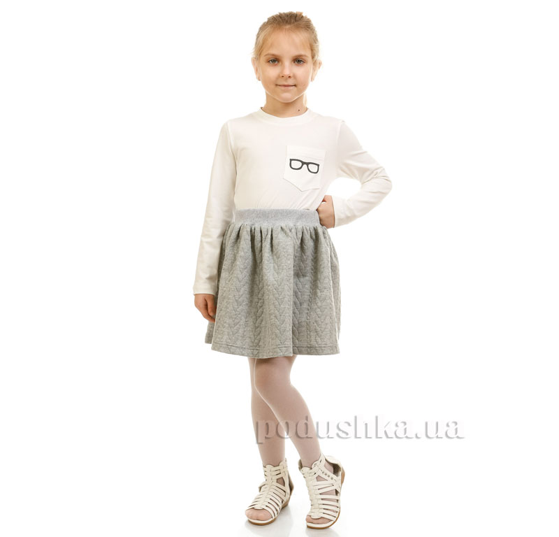 Юбка Косичка Kids Couture 17-202 светло-серый