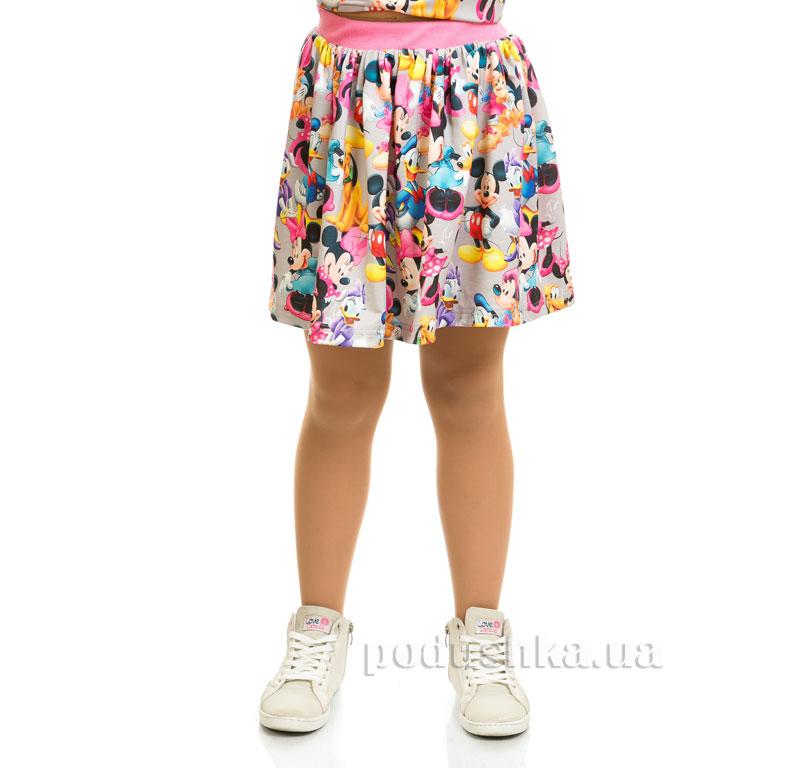 Юбка Мики Маус Kids Couture 17-202 серая