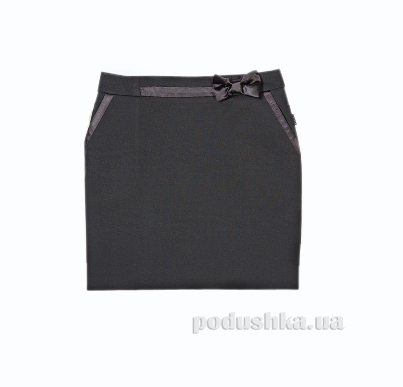 Юбка с атласным бантом черная Panda ПА-07350-14