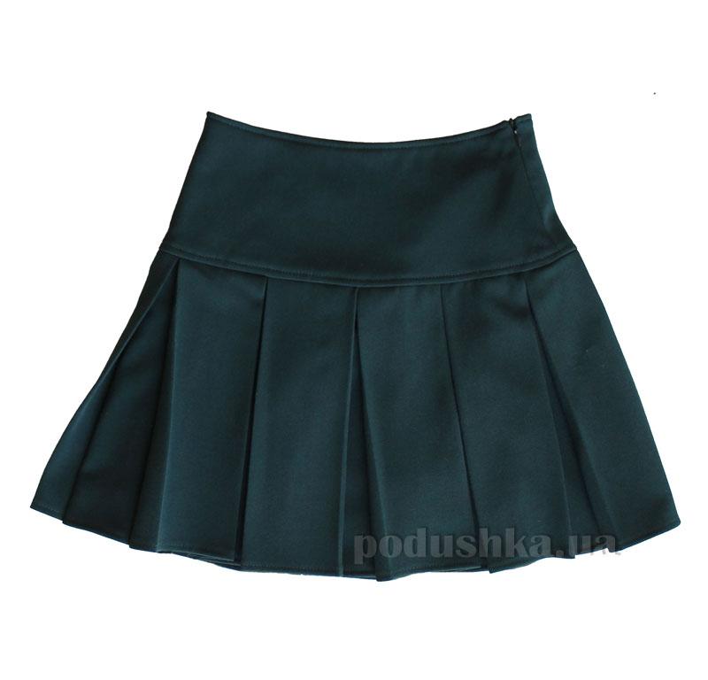 Юбка со складками Промiнь ВД-0905 зеленая