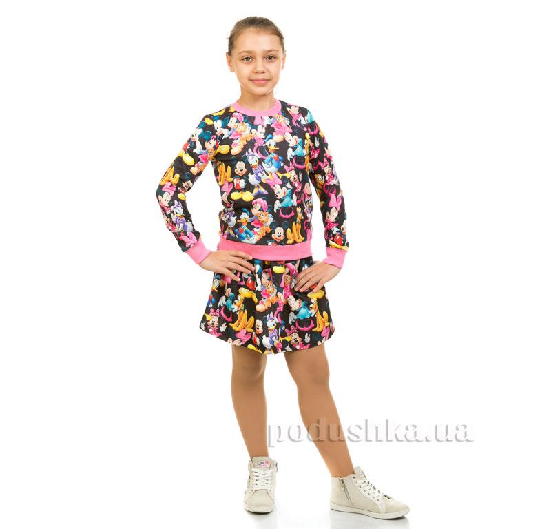 Юбка трикотажная Микки Kids Couture 17-202 черная