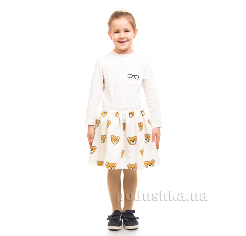 Юбка трикотажная Мишки Kids Couture молочная