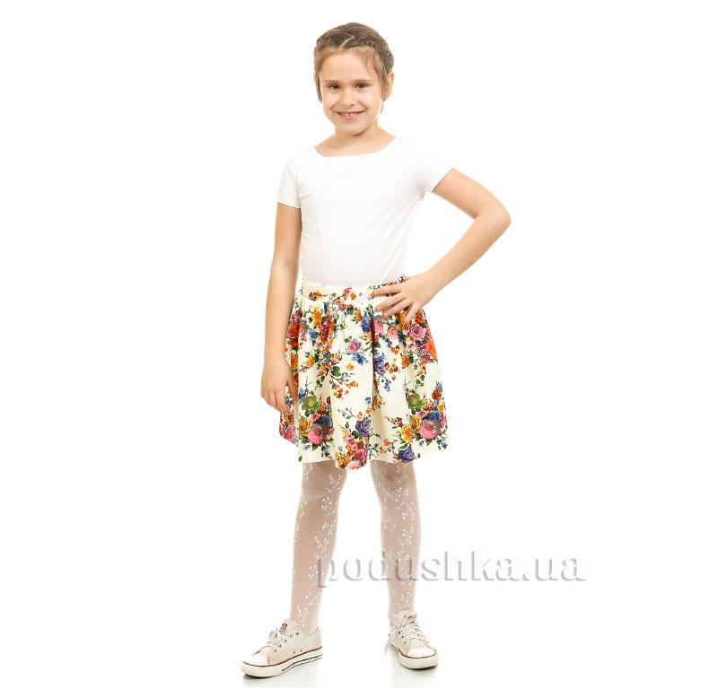Юбка Цветы Kids Couture 2-002 молочная