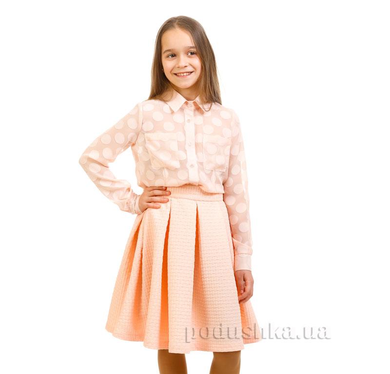 Юбка вафелька Kids Couture 17-244а персиковая