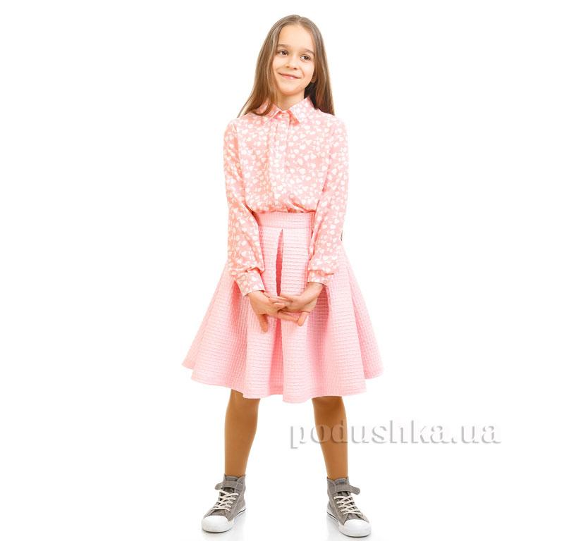 Юбка вафелька Kids Couture 17-244а розовая