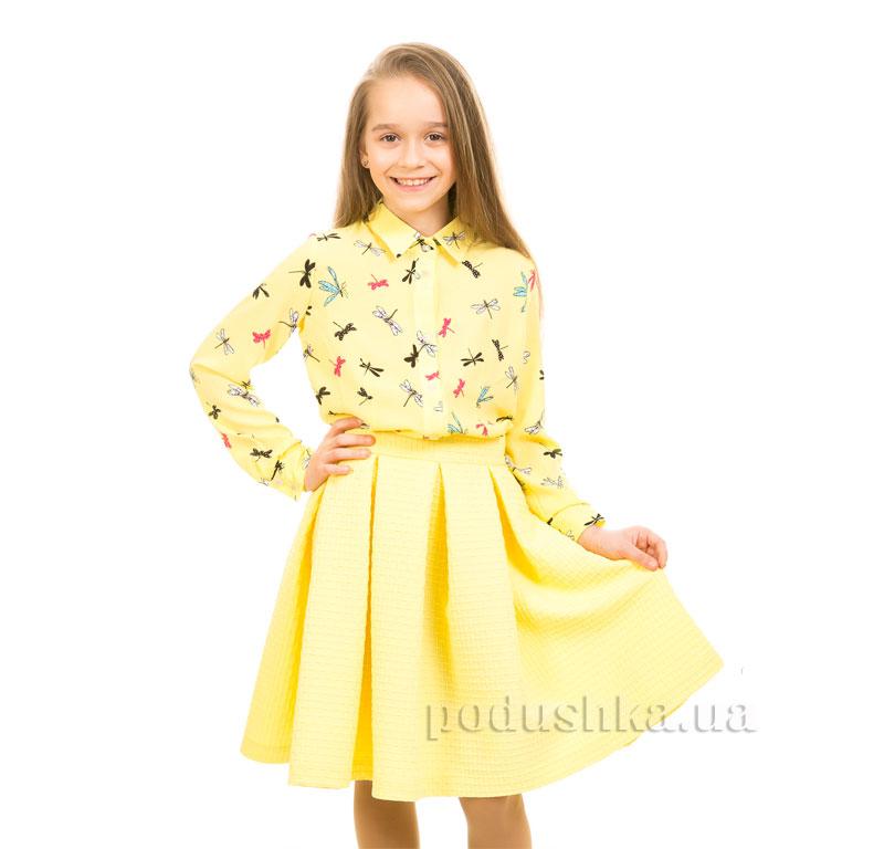 Юбка вафелька Kids Couture 17-244а желтая