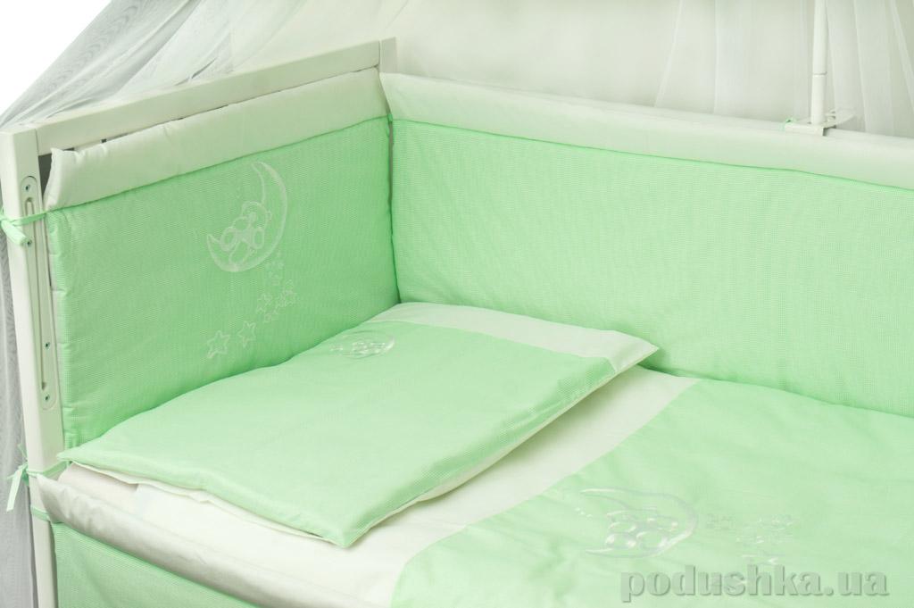 Защитное ограждение для детской кроватки Руно 922ВУ салатовое
