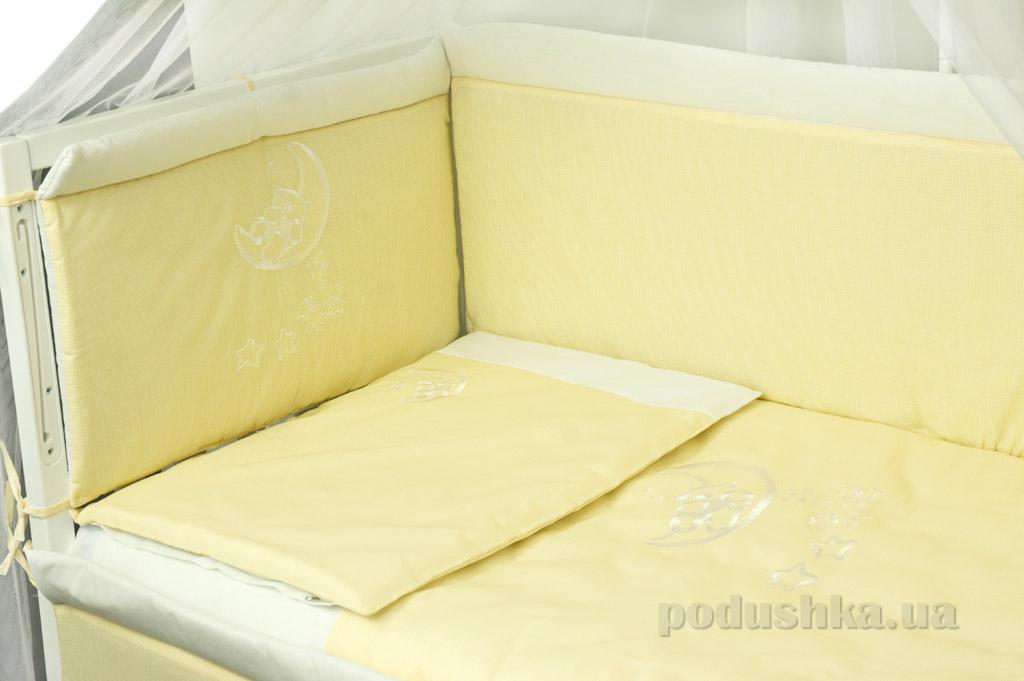 Защитное ограждение для детской кроватки Руно 922ВУ желтое