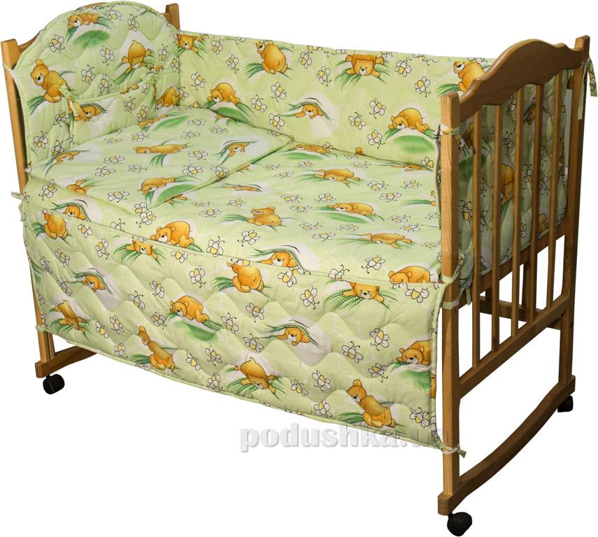 Защитное ограждение для детской кроватки Руно 926.114У Сладкий сон салатовое