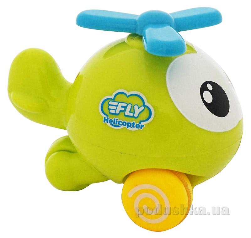 Зеленый инерционный самолет Веселый полет BeBeLino 57037-4