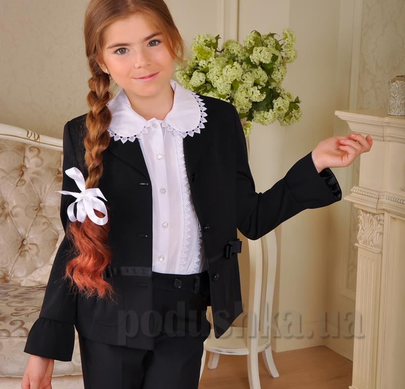 Школьный жакет с манжетами Милана ЖД-02122 черный