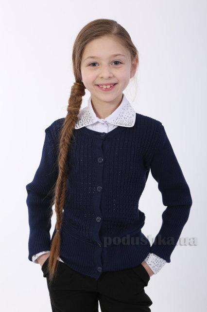2da2b36823e Жакет трикотажный для девочки ОТМ Дизайн 5245 синий купить в Киеве ...