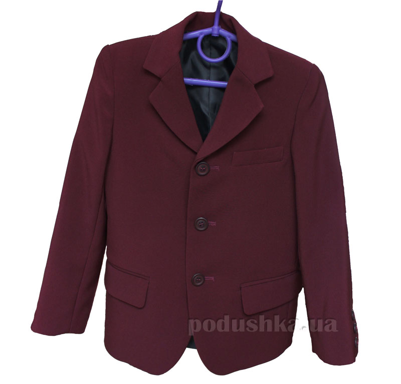 Пиджак для мальчика тиар Промiнь ВМ-0915 бордо