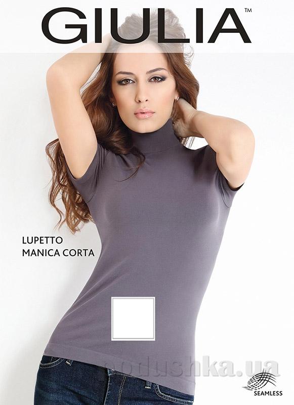 Женская белая водолазка Lupetto manica corto Giulia bianco