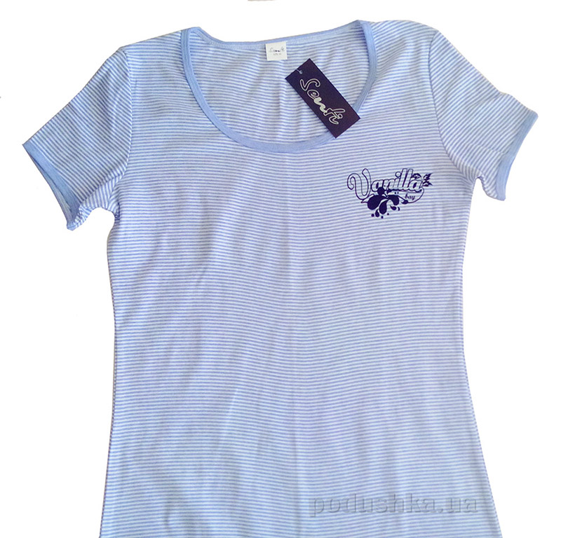 Женская футболка Senti 111215 голубая