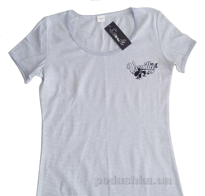 Женская футболка Senti 111215 серая