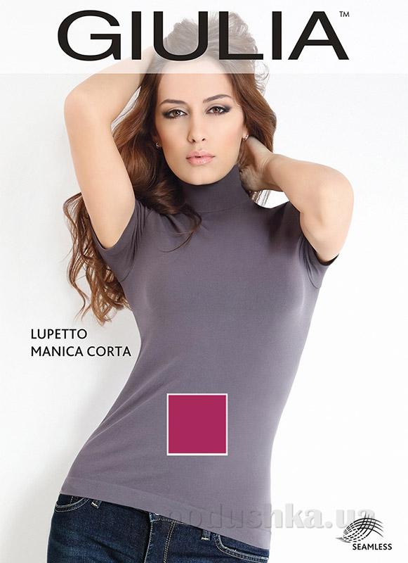 Женская малиновая водолазка Lupetto manica corto Giulia berry