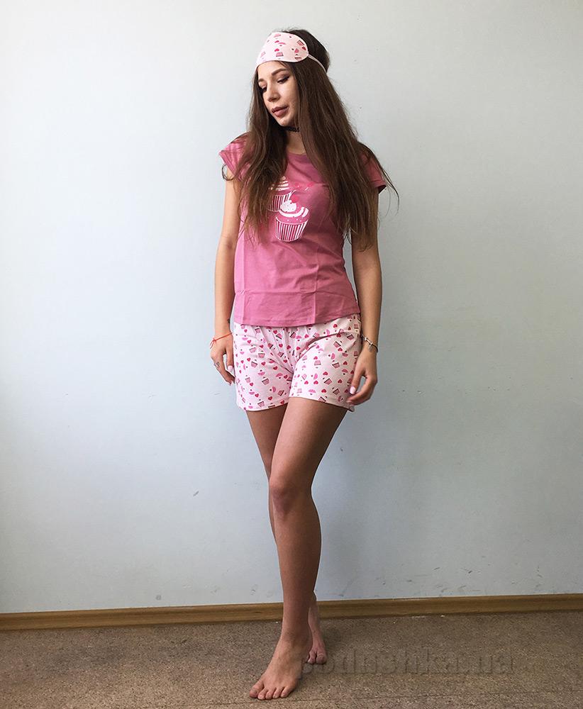 Женская пижама Boyraz Home Wear 9834 темно-розовая