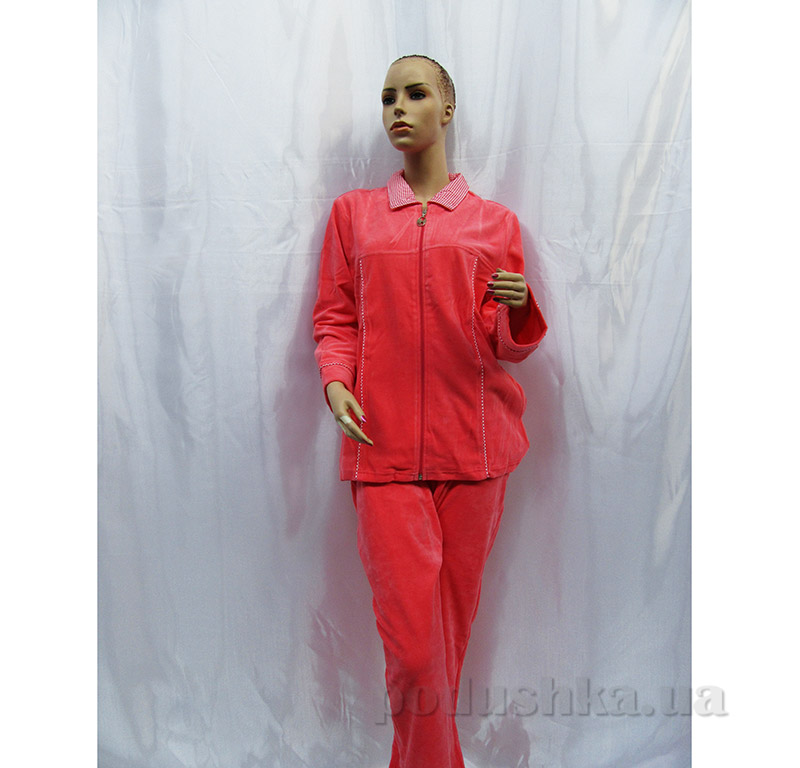 Женская пижама на молнии Arya 13315 коралловая
