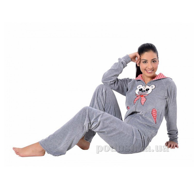 Женская пижама с капюшоном Arya 13305 XL серая ARYA