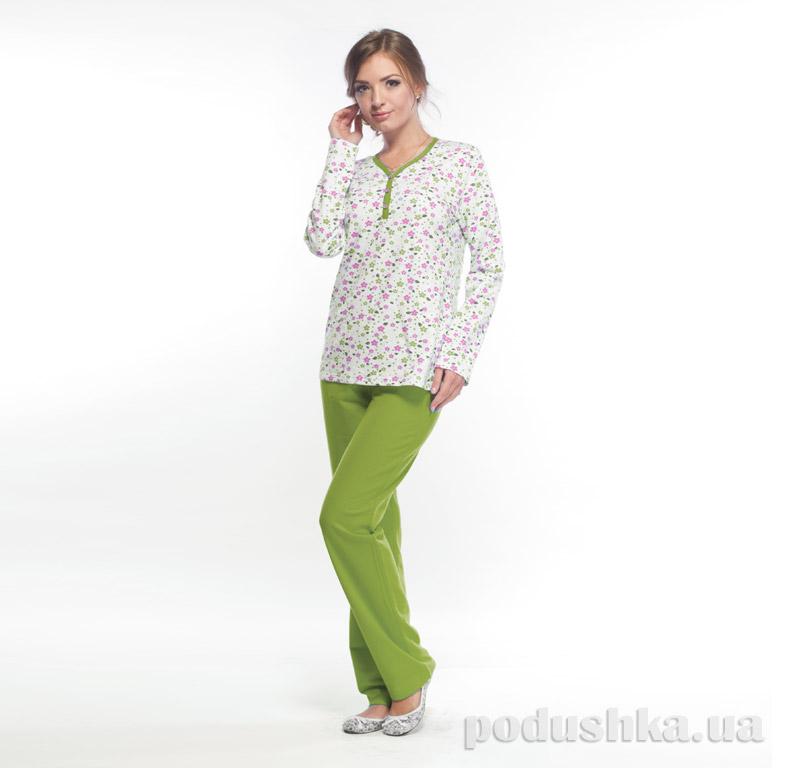 Женская пижама с начесом МТФ 1482 фисташковая