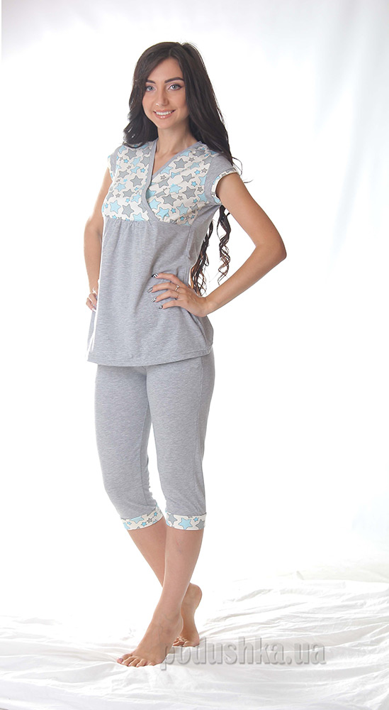 Женская пижама VVL-TEX 387 звезды