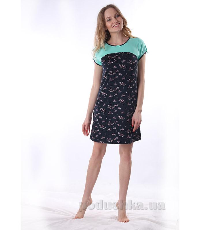 Женская сорочка VVL-TEX 300 темно-синяя