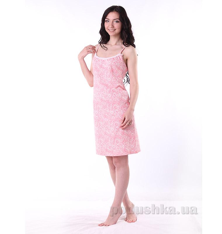Женская сорочка VVL-TEX 308-1 Розы коралл