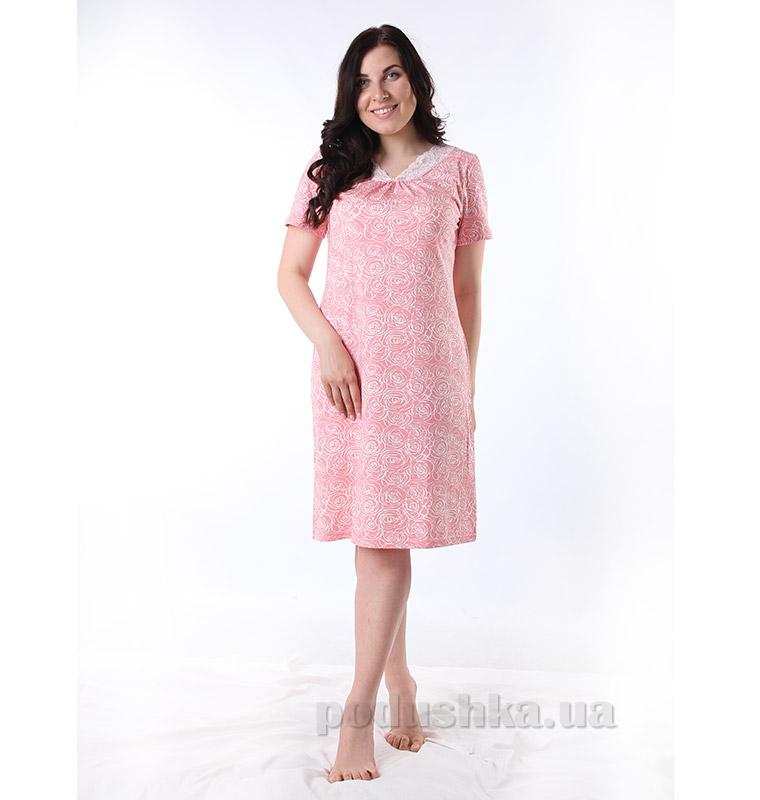 Женская сорочка VVL-TEX 316 Розы коралл