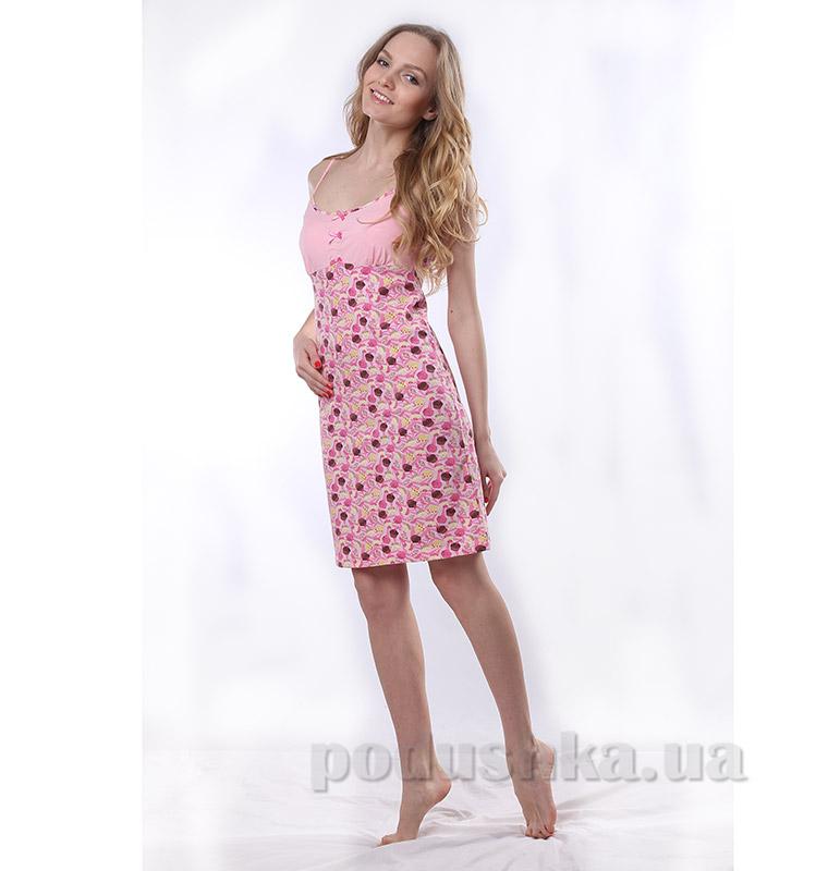 Женская сорочка VVL-TEX Кексики 165-3 розовая