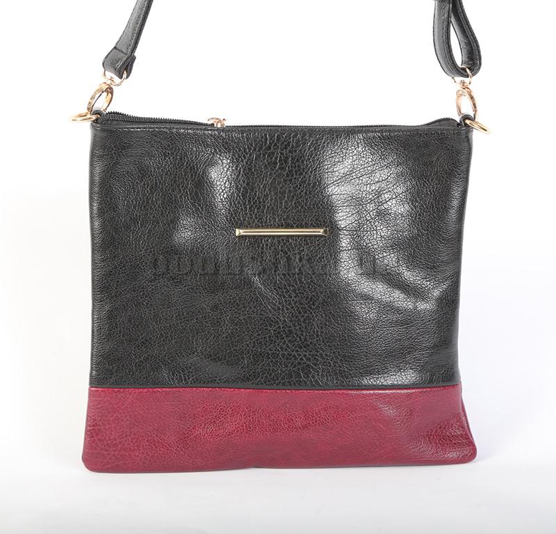 Женская сумка Maroon 18208 черно-бордовая