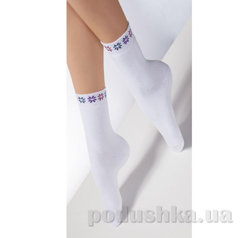 Женские белые махровые носки TL-02 Giulia bianco