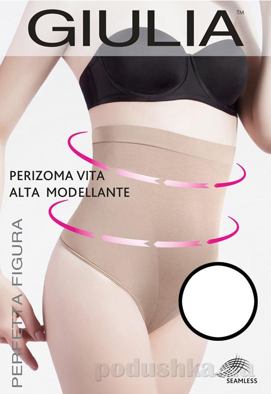 Женские белые моделирующие трусики стринг Perizoma Vita Alta Modellante Giulia bianco