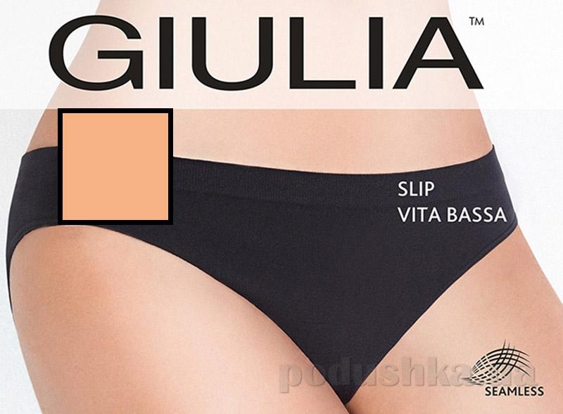 Женские бежевые трусики слип c низкой талией Slip Vita Bassа Giulia naturale