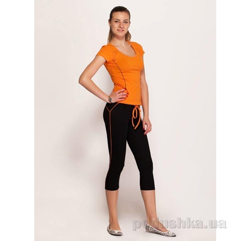 Женские брюки МТФ 01035 с оранжевой вставкой