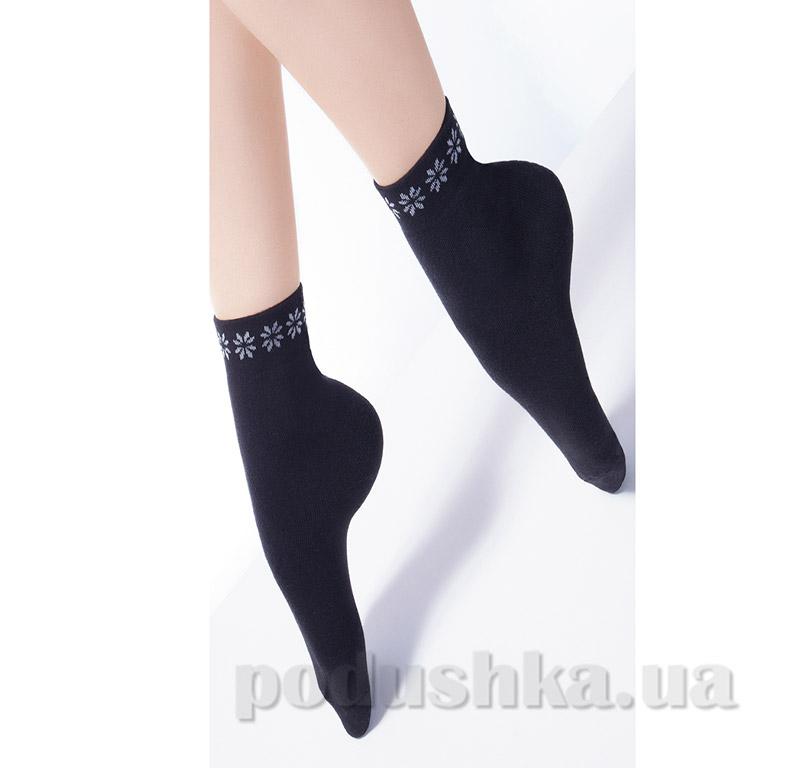 Женские черные махровые носки TL-02 Giulia nero