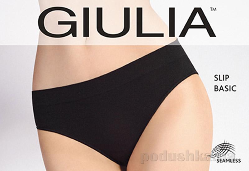 Женские черные трусики слип Slip Basic Giulia nero