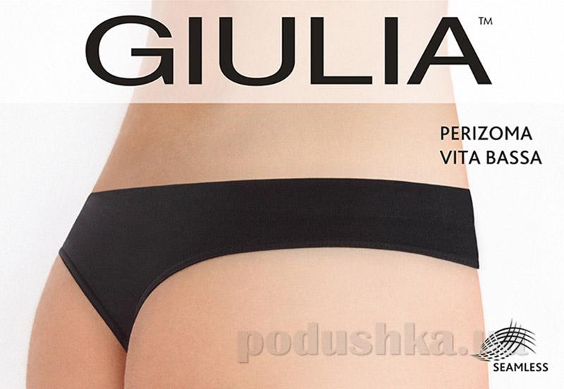 Женские черные трусики стринг заниженная талия Perizoma Vita Bassa Giulia nero