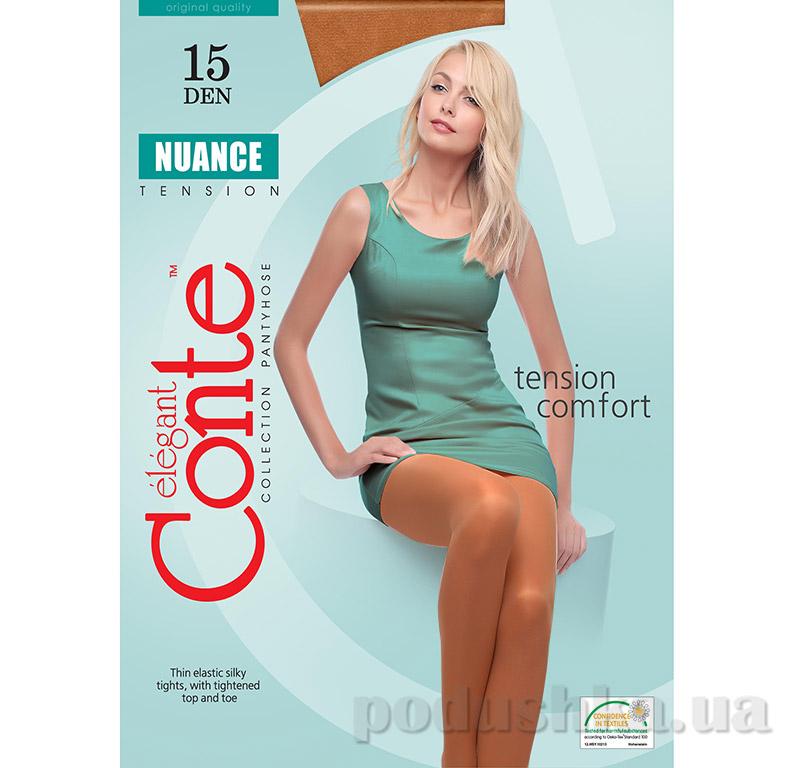Женские колготки бронза Nuance 15 Den Conte 8С-35СП Bronz