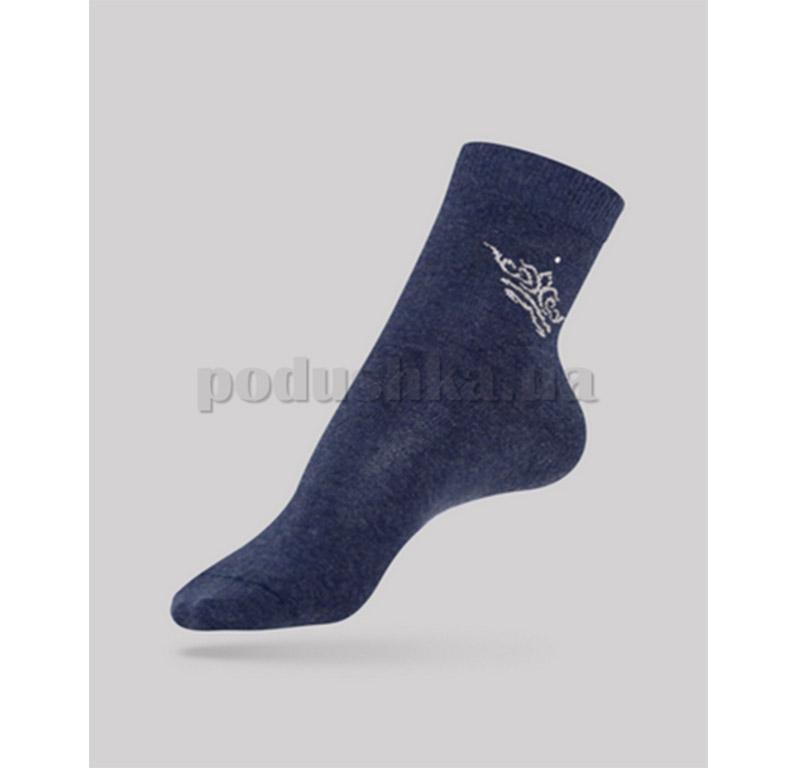 Женские носки Comfort стразы люрекс Conte 12С-34СП 042 темно-синие