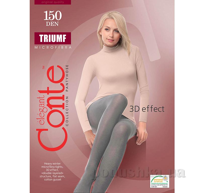 Женские теплые серые колготы Triumf 150 Den Conte 8С-57СП Grafit