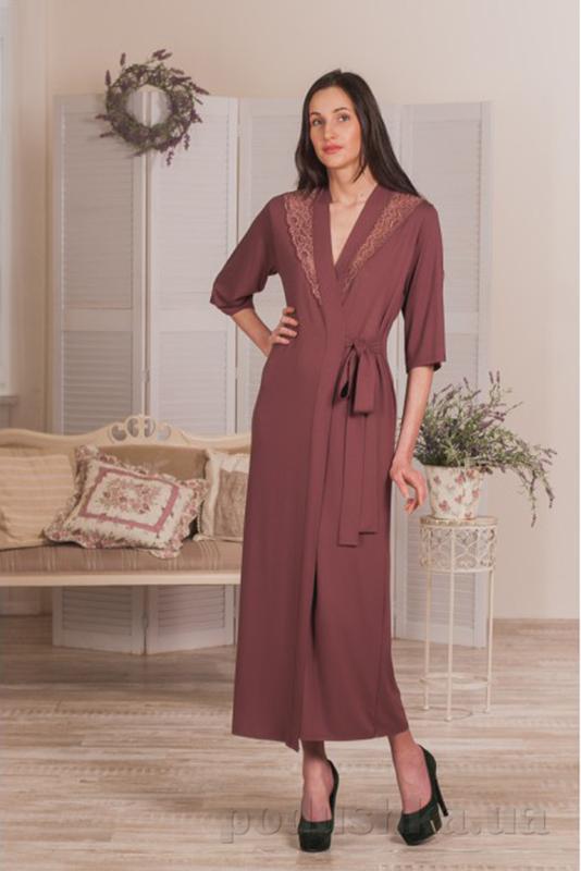Женский длинный халат Violet delux Х-М-17 ирландский кофе