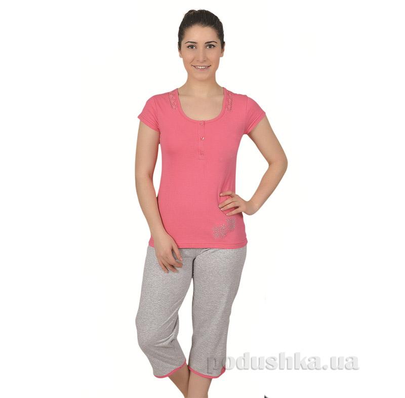 Женский домашний костюм Sabrina 51375 розовый