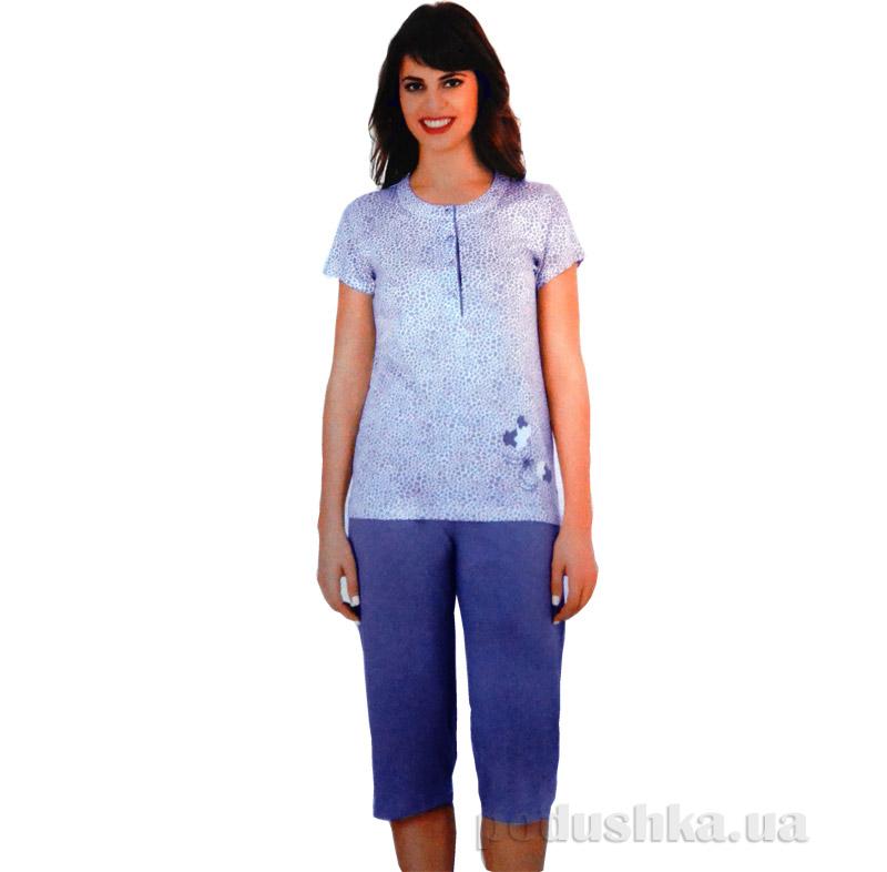 Женский домашний костюм Sabrina 52553 синий
