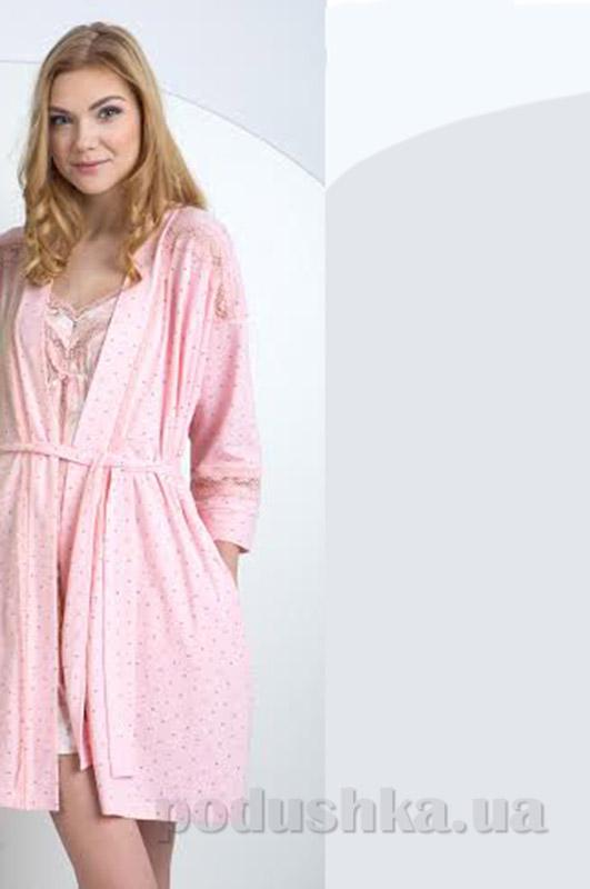 Женский халат Ellen ldg 027/002 розовый