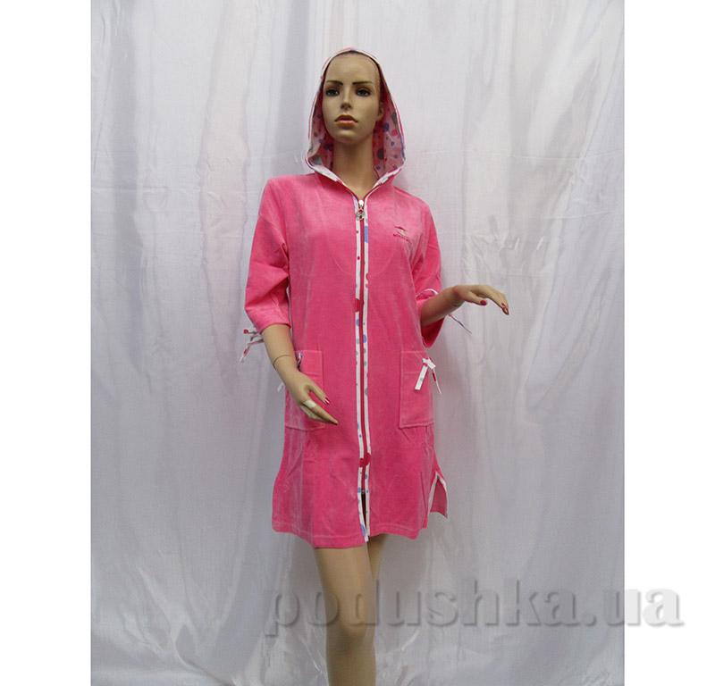 Женский халат на молнии Arya 13040 розовый