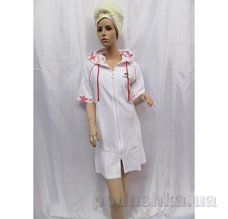 Женский халат на молнии Arya 13100 белый