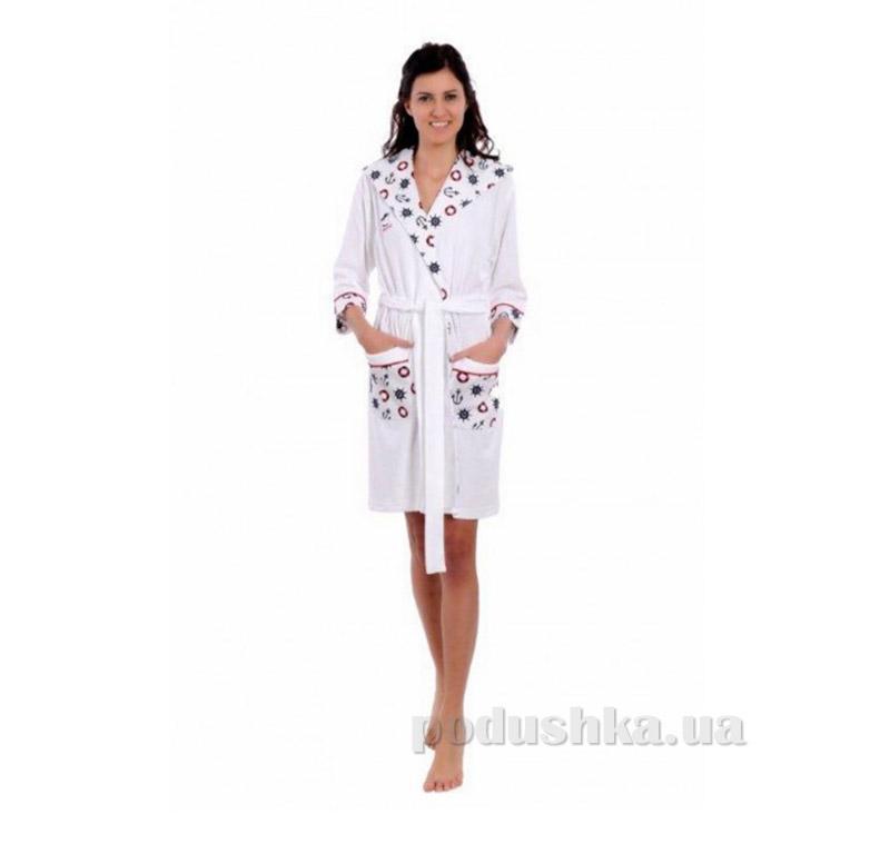 Женский халат на поясе Arya 13015 белый